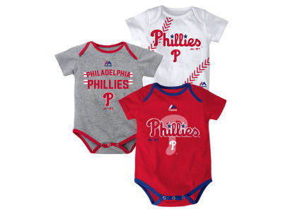 Philadelphia Phillies MLB Newborn Three Strikes Bodysuit Set