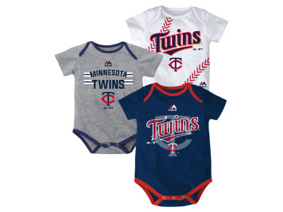 Minnesota Twins MLB Newborn Three Strikes Bodysuit Set