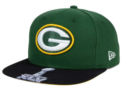 Green Bay Packers New Era NFL Super Bowl 50 Logo Jumbo Vize 9FIFTY Snapback Cap