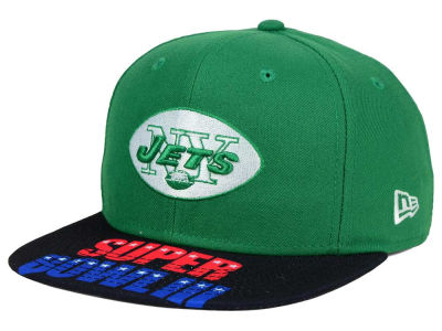 New York Jets New Era NFL Super Bowl 50 Logo Jumbo Vize 9FIFTY Snapback Cap