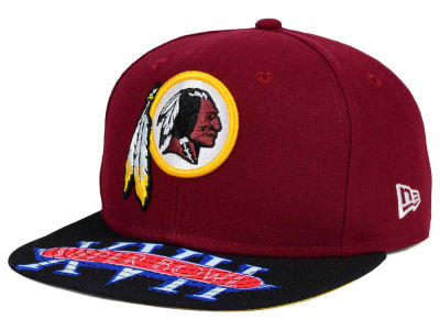 Washington Redskins New Era NFL Super Bowl 50 Logo Jumbo Vize 9FIFTY Snapback Cap