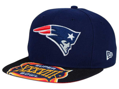 New England Patriots New Era NFL Super Bowl 50 Logo Jumbo Vize 9FIFTY Snapback Cap