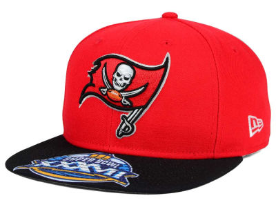 Tampa Bay Buccaneers New Era NFL Super Bowl 50 Logo Jumbo Vize 9FIFTY Snapback Cap