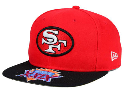 San Francisco 49ers New Era NFL Super Bowl 50 Logo Jumbo Vize 9FIFTY Snapback Cap
