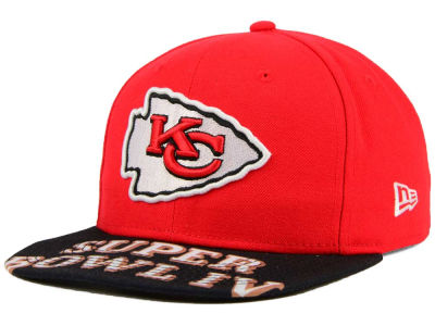 Kansas City Chiefs New Era NFL Super Bowl 50 Logo Jumbo Vize 9FIFTY Snapback Cap