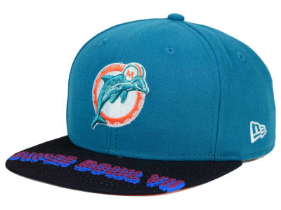 Miami Dolphins New Era NFL Super Bowl 50 Logo Jumbo Vize 9FIFTY Snapback Cap