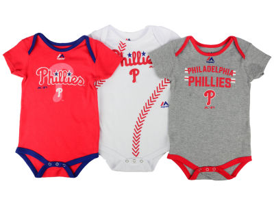 Philadelphia Phillies MLB Infant Three Strikes Bodysuit Set