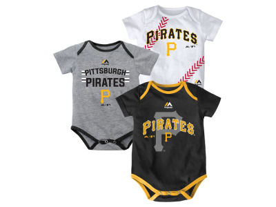 Pittsburgh Pirates MLB Infant Three Strikes Bodysuit Set
