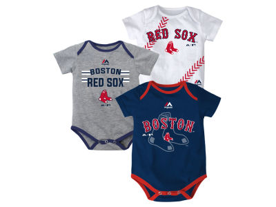 Boston Red Sox MLB Infant Three Strikes Bodysuit Set
