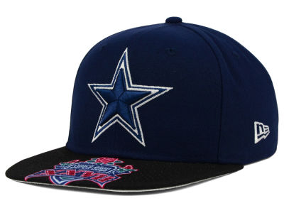 Dallas Cowboys New Era NFL Super Bowl 50 Logo Jumbo Vize 9FIFTY Snapback Cap