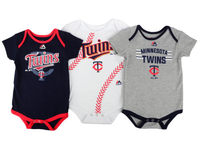 Minnesota Twins MLB Infant Three Strikes Bodysuit Set