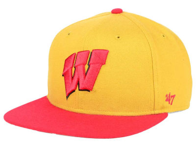Wisconsin Badgers '47 NCAA Sure Shot Snapback Cap