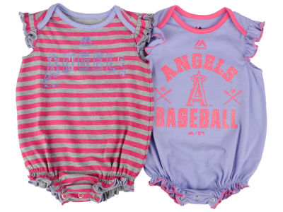 Los Angeles Angels MLB Newborn Team Sparkle 2pc Creeper