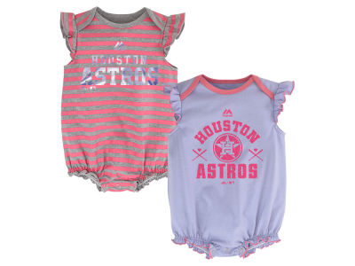 Houston Astros Majestic MLB Newborn Team Sparkle 2pc Creeper