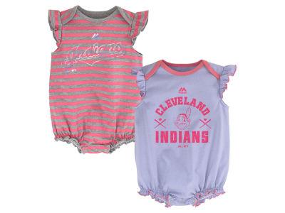 Cleveland Indians MLB Newborn Team Sparkle 2pc Creeper