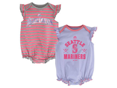 Seattle Mariners MLB Newborn Team Sparkle 2pc Creeper