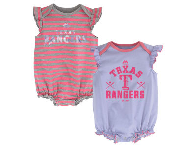 Texas Rangers MLB Newborn Team Sparkle 2pc Creeper