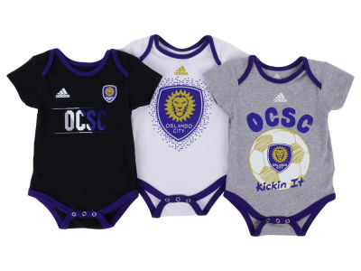 Orlando City SC adidas MLS Newborn Hat Trick Creeper Set