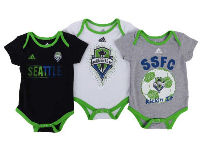 Seattle Sounders FC adidas MLS Newborn Hat Trick Creeper Set