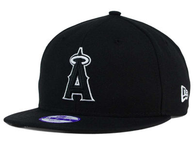 Los Angeles Angels New Era MLB Youth Black White 9FIFTY Snapback Cap
