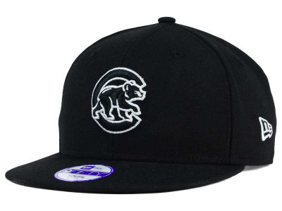 Chicago Cubs New Era MLB Youth Black White 9FIFTY Snapback Cap