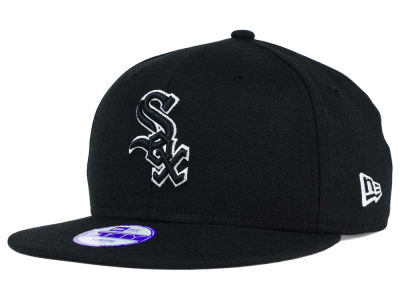 Chicago White Sox New Era MLB Youth Black White 9FIFTY Snapback Cap