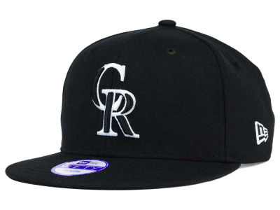 Colorado Rockies New Era MLB Youth Black White 9FIFTY Snapback Cap