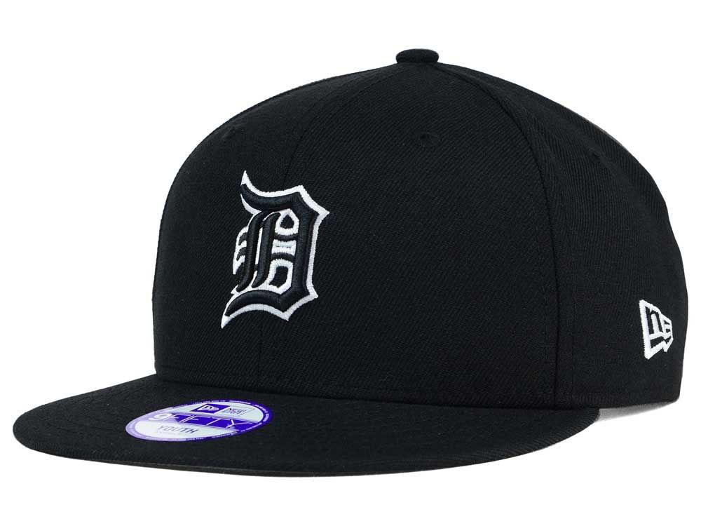 the latest 688c5 b81c7 ... get detroit tigers new era mlb youth black white 9fifty snapback cap  lids ed450 4b3c7