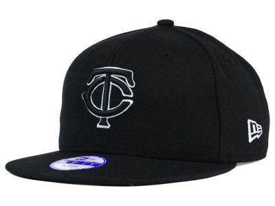 Minnesota Twins New Era MLB Youth Black White 9FIFTY Snapback Cap