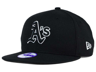 Oakland Athletics New Era MLB Youth Black White 9FIFTY Snapback Cap