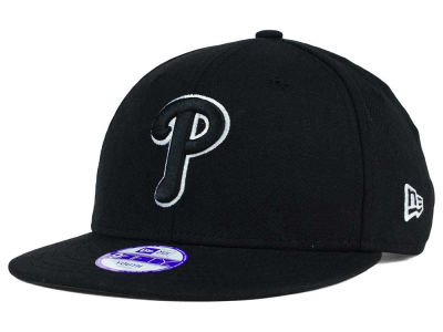 Philadelphia Phillies New Era MLB Youth Black White 9FIFTY Snapback Cap