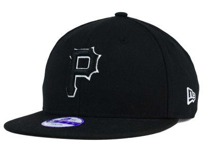 Pittsburgh Pirates New Era MLB Youth Black White 9FIFTY Snapback Cap