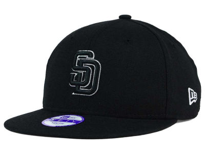 San Diego Padres New Era MLB Youth Black White 9FIFTY Snapback Cap