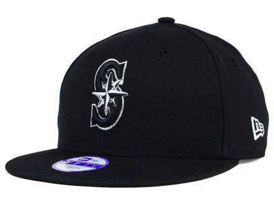 Seattle Mariners New Era MLB Youth Black White 9FIFTY Snapback Cap