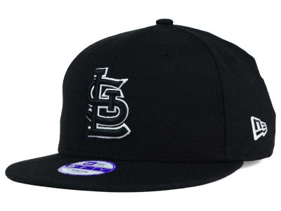 St. Louis Cardinals New Era MLB Youth Black White 9FIFTY Snapback Cap