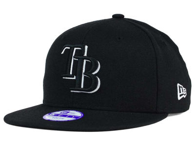 Tampa Bay Rays New Era MLB Youth Black White 9FIFTY Snapback Cap