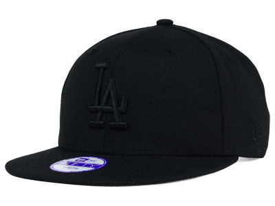 Los Angeles Dodgers New Era MLB Youth Black on Black 9FIFTY Snapback Cap