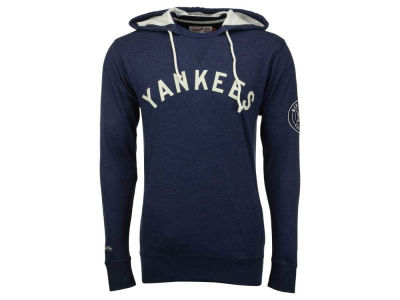 New York Yankees Mitchell and Ness MLB Men's Away Team Hooded Long Sleeve T-Shirt