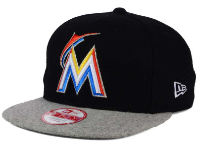 Miami Marlins New Era MLB Team Melton 9FIFTY Snapback Cap