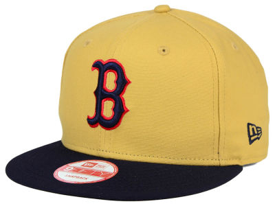 Boston Red Sox New Era MLB Classic Canvas 9FIFTY Snapback Cap