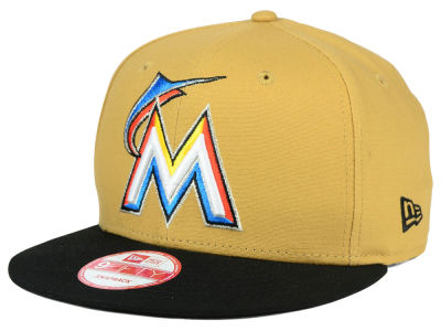 Miami Marlins New Era MLB Classic Canvas 9FIFTY Snapback Cap