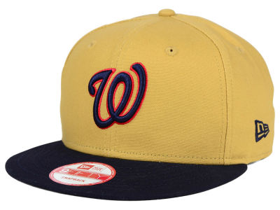Washington Nationals New Era MLB Classic Canvas 9FIFTY Snapback Cap