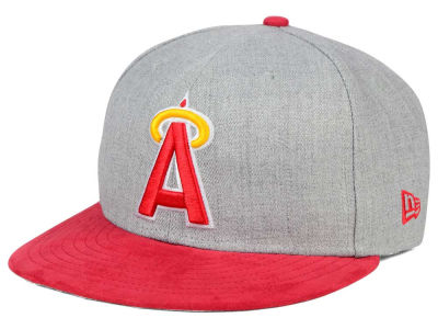 Los Angeles Angels New Era MLB Heather On Suede 9FIFTY Snapback Cap