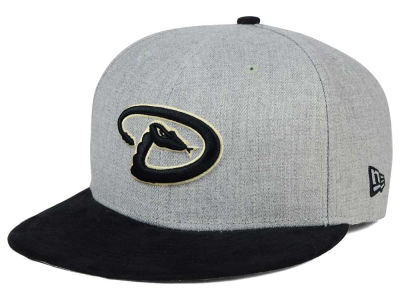 Arizona Diamondbacks New Era MLB Heather On Suede 9FIFTY Snapback Cap