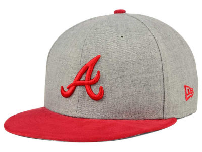 Atlanta Braves New Era MLB Heather On Suede 9FIFTY Snapback Cap