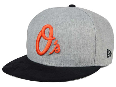 Baltimore Orioles New Era MLB Heather On Suede 9FIFTY Snapback Cap