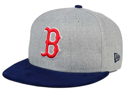 Boston Red Sox New Era MLB Heather On Suede 9FIFTY Snapback Cap