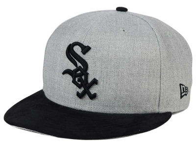 Chicago White Sox New Era MLB Heather On Suede 9FIFTY Snapback Cap