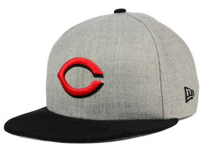Cincinnati Reds New Era MLB Heather On Suede 9FIFTY Snapback Cap