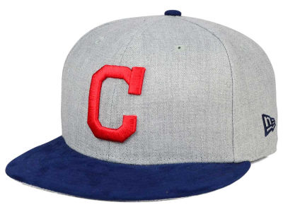 Cleveland Indians New Era MLB Heather On Suede 9FIFTY Snapback Cap